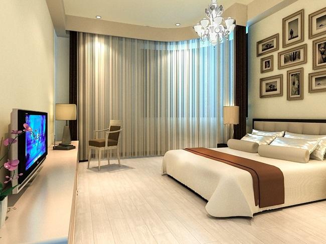 Светлые шторы в спальне, шторы в спальню 2019